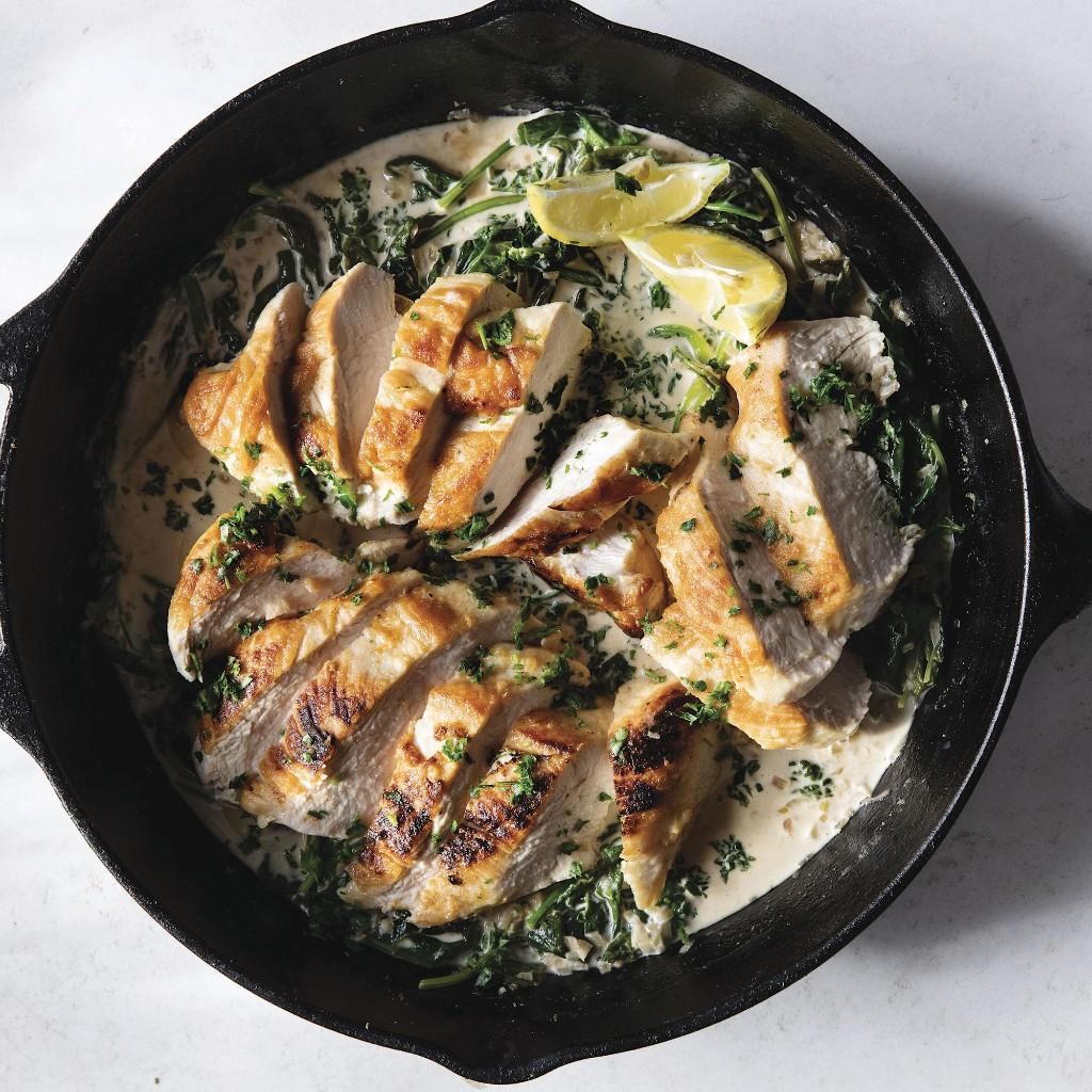 Creamy One-Skillet Chicken Florentine From Joanna Gaines = Dinner Tonight