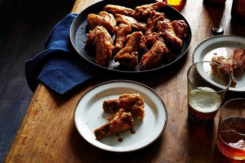 Korean Fried Chicken Wings - Magazine cover