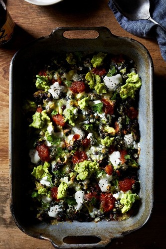 Roasted Broccoli with Nacho Toppings Recipe