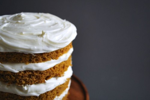 Vermont Spice Pumpkin Cake with Cream Cheese Frosting Recipe