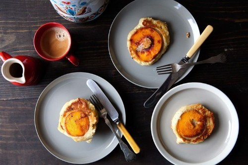 Caramelized Peach Pancakes - Summer Breakfast Recipes
