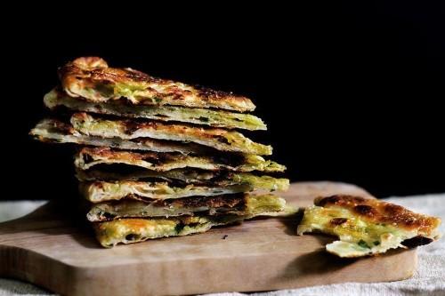 How to Make Scallion Pancakes -- Street Food Recipes