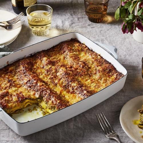 Fennel-Pistachio Pesto Lasagna Recipe on Food52