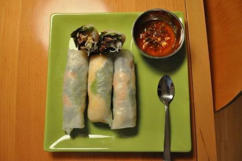 Vietnamese-style Spring Rolls with Korean-styleBeef