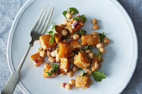 Moro's Warm Squash & Chickpea Salad with Tahini Recipe on Food52