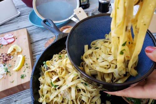 One-Pan Parmesan & Anchovy Pantry Pasta