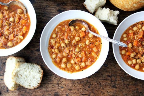 A Pantry-Clearing, Belly-Warming Lentil and ChickpeaSoup