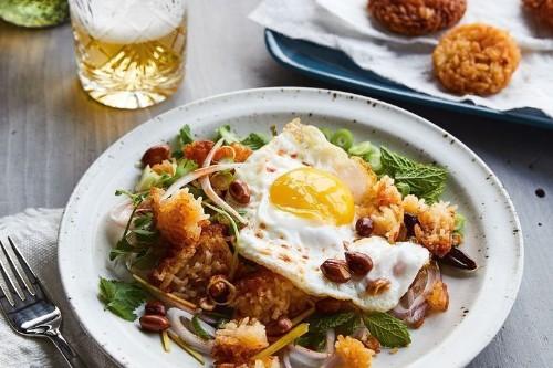 Chrissy Teigen's Crispy Rice Salad With FriedEggs