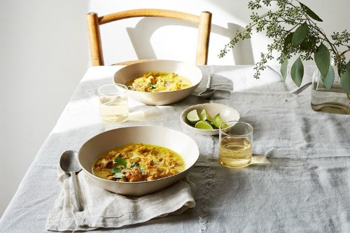 Burmese-Inspired Chicken Braised in Coconut Milk & Turmeric with Sweet Potato Recipe on Food52
