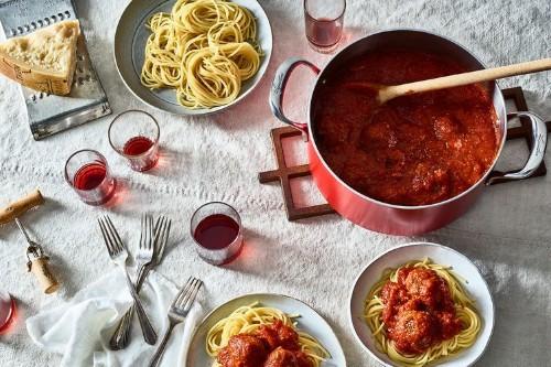 Grandma's Sicilian Meatballs in a Spicy TomatoSauce