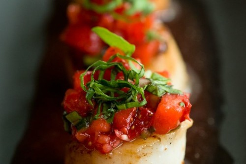 Caramelized Scallops with Strawberry Salsa Recipe on Food52