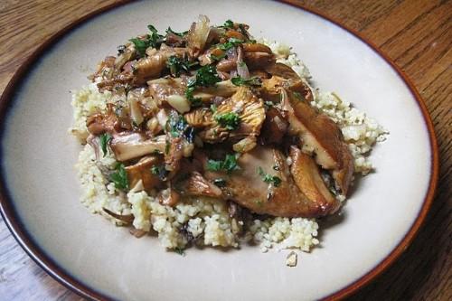 Wild  Mushroom Couscous Recipe on Food52