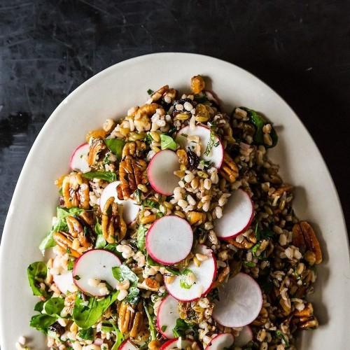 Radish and Pecan Grain Salad Recipe on Food52