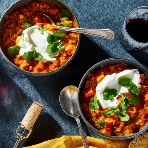 Coconut & Red Curry Lentil Stew With Sweet Potatoes Recipe on Food52