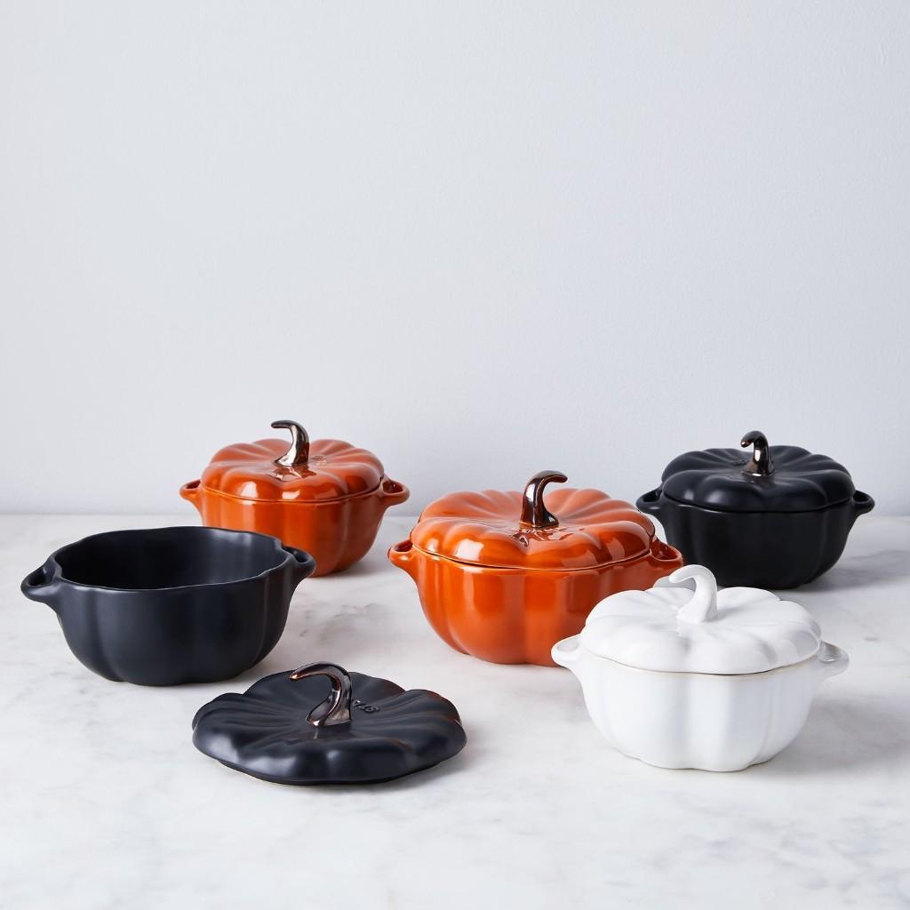 Staub Ceramic Petite Pumpkin Cocotte, 16-oz or 24-oz, 3 Colors