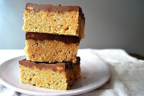 Scotcheroos (Rice Krispies with Peanut Butter, Butterscotch &Chocolate)