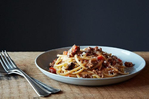 Nigel Slater's Really Good Spaghetti Bolognese Recipe on Food52