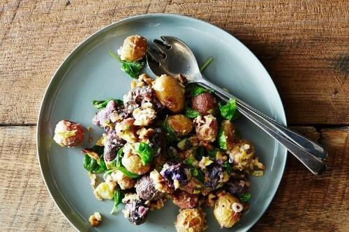 Roasted Potato Salad With Mustard-WalnutVinaigrette