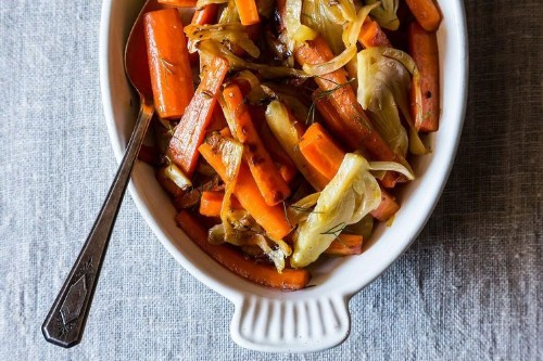 Carrots and Fennel Braised with Orange Zest andHoney