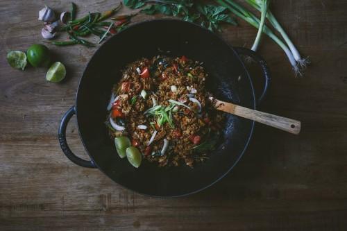 Thai Basil Fried Rice with Tofu Recipe on Food52