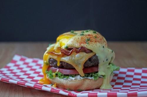 Eggs Benedict Brunch Burgers Recipe on Food52
