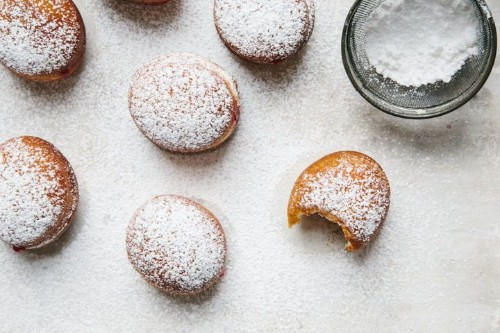 Cranberry Jelly-Filled Doughnuts (Sufganiyot)