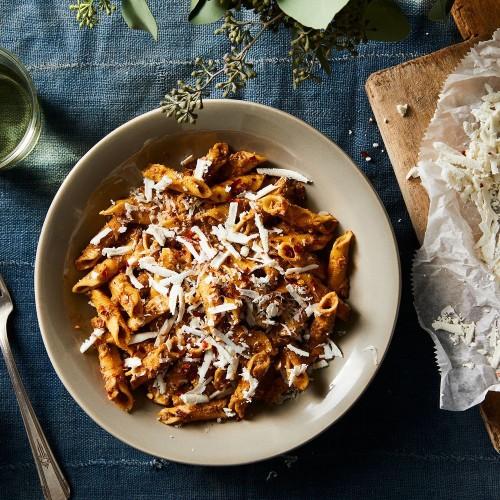 Creamy Mushroom Ragu & Garganelli: Fall Vegetarian Pasta Recipe