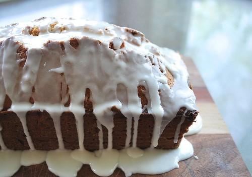 Glazed Brown Sugar Pound Cake Recipe