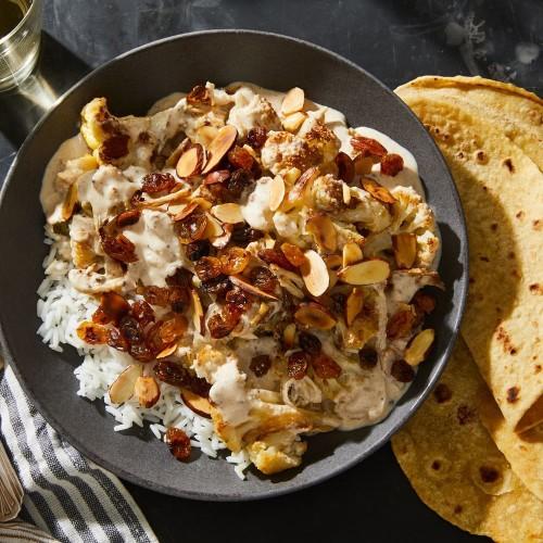 Cauliflower Korma with Blackened Raisins (Gobhi Korma) from Meera Sodha Recipe on Food52