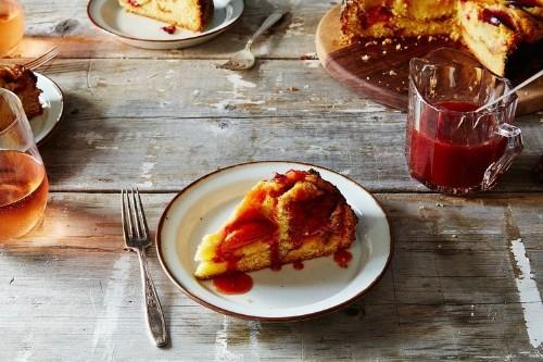 Crème Fraîche Plum Cake with PlumCaramel