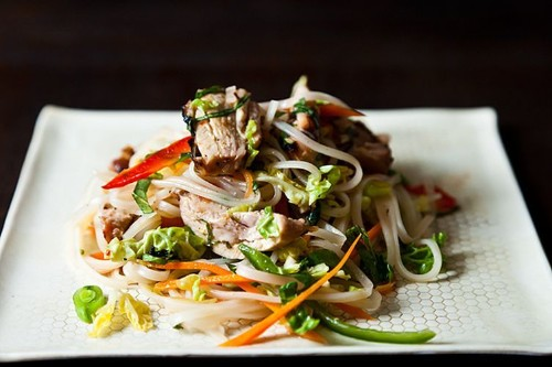 Spicy Grilled Chicken Salad withNoodles