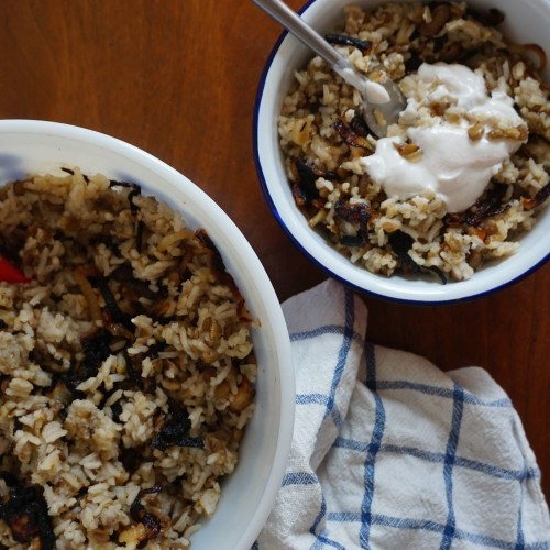 Mama's M'Jedrah (Rice and Lentils) Recipe on Food52