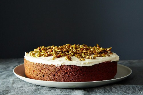 How to Make Pumpkin Cake with Caramelized Pumpkin Seeds