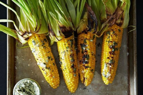 Grilled Corn with Basil Butter Recipe on Food52