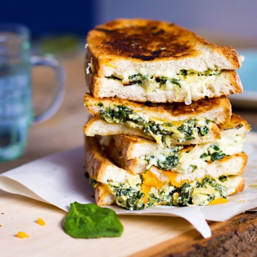 Spinach and Artichoke Grilled Cheese Recipe on Food52