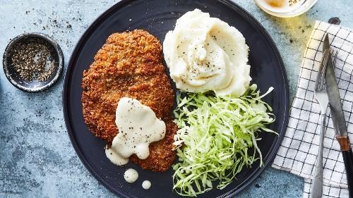 Chicken-Fried Steak Katsu With Milk Gravy Recipe on Food52