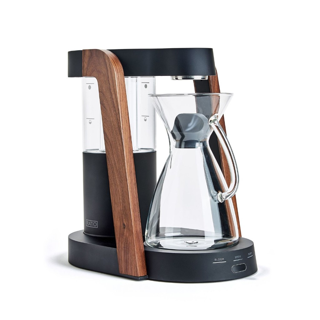 Automatic Pour Over System with Handblown Glass Carafe, by Ratio Eight; 3 colors