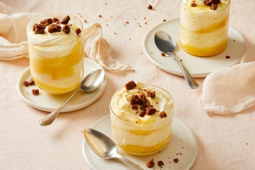 Citrus Pudding with Ginger CookieCrumble