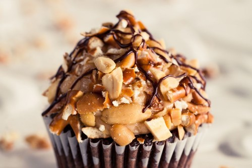 Robicelli's Chocolate Peanut Butter Pretzel Cupcakes