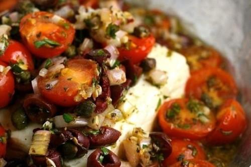 Baked Feta with Mediterranean TomatoSauce