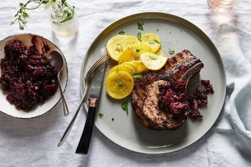 Berry-Marinated PorkChops