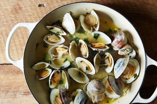 Clams (or Mussels) With Lime-ButterSauce