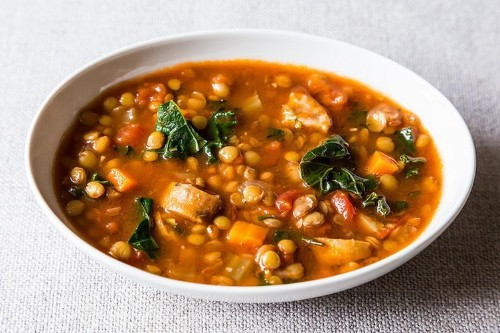 Lentil and Sausage Soup with Kale Recipe on Food52