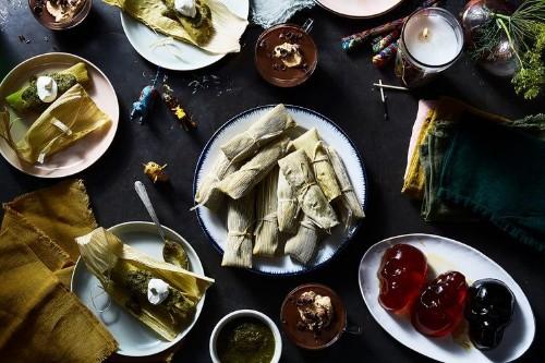 Chicken Tamales with SalsaVerde