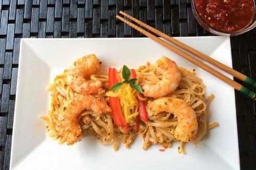 Thai Basil Pesto with Chili Garlic Shrimp Recipe on Food52
