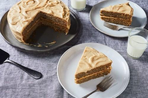 Lindsay-Jean Hard's Banana Peel Cake with Brown SugarFrosting