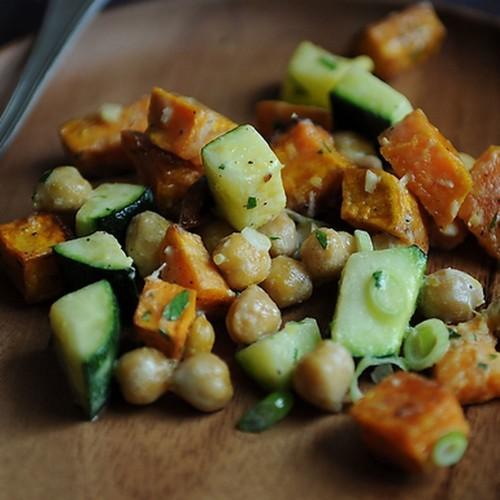 Sweet Potato, Zucchini & Chickpea Salad Recipe on Food52