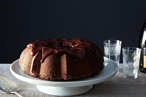 Chocolate-Mashed Potato Cake withGanache
