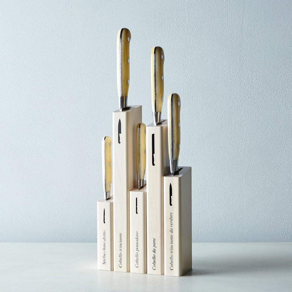 Berti White-Handled Italian Kitchen Knives