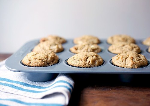 Warmly Spiced, Tahini-Spiked, Not-Too-Sweet AppleMuffins